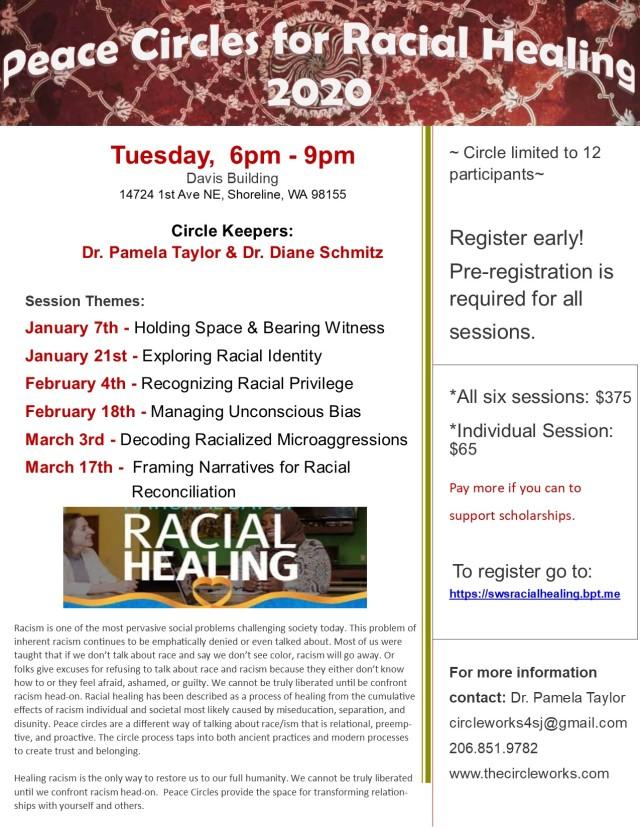 2020 Shoreline Racial Healing Circles Flyer.2