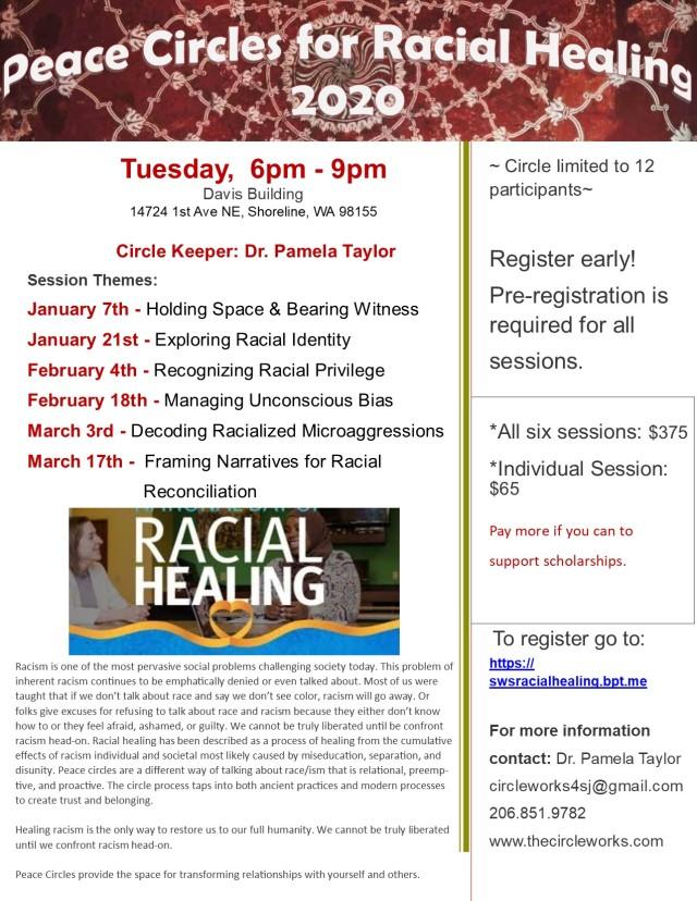 2020 Shoreline Racial Healing Circles Flyer