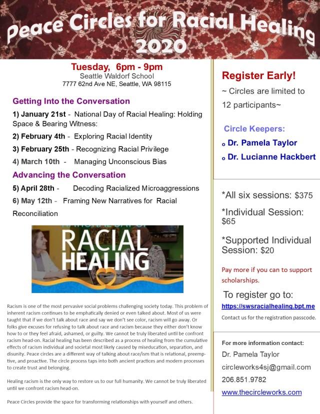 2020 Racial Healing Circles Flyer