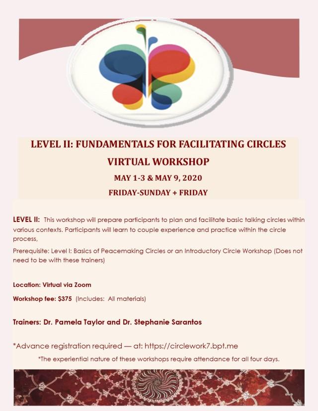 LEVEL II PEACEMAKING CIRCLE TRAINING May 2020